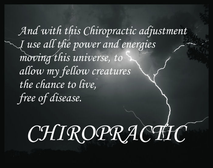 Chiropractic Saying