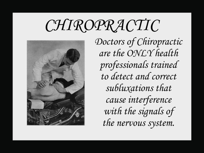 Doctors of Chiropractic